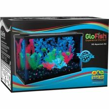 Small 5Gal Aquarium Kit Acrylic Illuminated Fish Tank LED Light Filter Cartridge