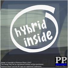 1 x all'interno ibrido-Finestra, Auto, Furgone, STICKER, SEGNO, veicolo, Adesivo, elettrico, Benzina