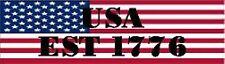 USA EST 1776 HELMET STICKER HARD HAT STICKER