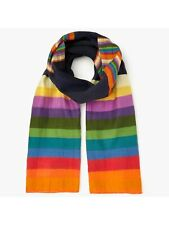 Paul Smith Rainbow Stripe Scarf / Multi One Size New With Tags Free P&P