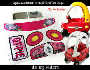 Replacement Stickers fits New Step2 Toddle Tune Coupe Car Decals QT-Pie