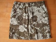 EDDI BAUER Rock, sportlich, grün/grau mit Blumen, Gr. 36