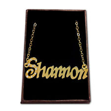 Gold Plated Name Necklace - SHANNON - Gift Ideas For Her - Anniversary Fashion
