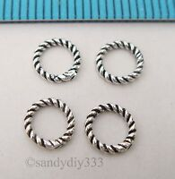 20x BALI STERLING SILVER CLOSED TWIST ROUND JUMP RING 6mm 1mm  #2554