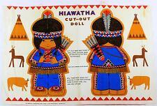 Un vintage hiawatha ajourées poupée tissu design. inhabituel années 1960 années 70 rétro