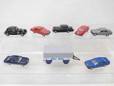 eso-6969Wiking 1:87 8 St. Autos/Anhänger mit Gebrauchsspuren,Kratzer