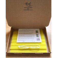 Beeswax Candle Making Kit, 5 Bees wax sheets, Instruction, Wick Yellow Wax