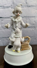 """Vintage Porcelain Clown Music Box by Summit Collection Days Of Wine And Roses 8"""""""