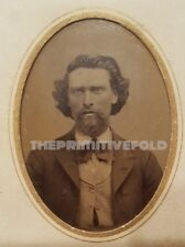 MIDWESTERN MAN POSSIBLE BLOODY BILL ANDERSON CONFEDERATE GUERILLA TINTYPE PHOTO