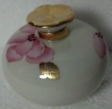 Lenox Royal Blossom Perfume Bottle w/stopper Approx 3 x 3 Gold trim & stamp logo