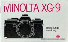"""MINOLTA Bedienungsanleitung """" XG-9 / XG9  """" User Manual Kamera Anleitung (X2346"""