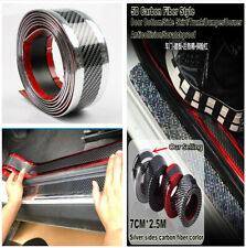 5D 2.5M*7cm Car Door Sill Scuff Welcome Pedal Skirt Eyebrow Grill Decor Sticker