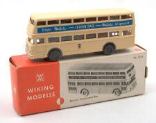 Wiking HO 1:87 Berliner Doppeldeck Bus Nr.72d 1970s *BOXED* (1)