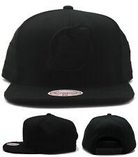 New Jersey Devils New Mitchell & Ness Tonal Era Black on Black Snapback Hat Cap