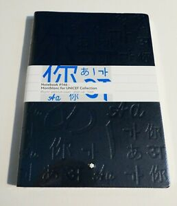 New Sealed Montblanc Notebook #146 Unicef Blue Made in Italy M16141