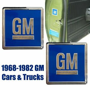 68-82 Door GM Decal BLUE 3M ALL GM Vehicles PAIR Reproduction Sold in a Pair