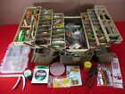 Vintage Plano 6-Tray Fishing Tackle Box 8600 FILLED with FISHING LURES & TACKLE