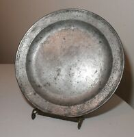 LARGE antique 1700's Dutch Master Raymond Dey forged pewter platter plate bowl