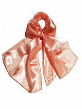 Retro1950s Women Style Polka Dot Chiffon Soft Scarf Neck Wrap Headband PeachPink