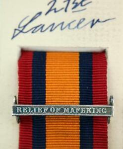 QSA QUEENS SOUTH AFRICA MEDAL RIBBON BAR CLASP RELIEF OF MAFEKING BOER WAR