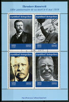 Madagascar 2019 CTO Theodore Roosevelt 4v M/S US Presidents Famous People Stamps