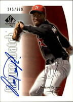 2002 SP Authentic Baseball Autograph Singles (Pick Your Cards)