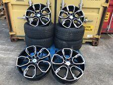 """4 19"""" VW Golf R Pretoria Style Black Polish Alloy Wheels & 225/35/19 pneus Caddy"""