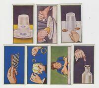 HILL'S CIGARETTE CARDS PUZZLE SERIES  X7
