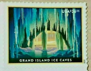One (1) Single US USA Postage Stamp of $26.35 GRAND ISLAND ICE CAVES. Sc. # 5430
