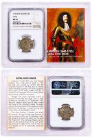 "1640-1705 Austria Silver 3 Kreuzer Leopold I ""The Hogmouth"" NGC MS61 SKU50506"