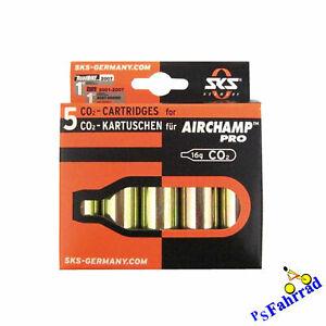 SKS CO2 Ersatzpatronen / Kartuschen Set  für Air Champ Pro (5 Patronen)