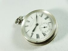 Antique Sterling Silver Courvoisier Freres Pocket Fob Watch Switzerland 935