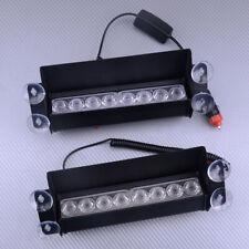 Kit 8 LED 3 In 1 Car Dash Emergency Strobe Flash Light Bar Warning Traffic Lamp