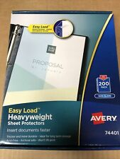Avery Easy Load Heavyweight Sheet Protectors 200 Pack 74401 New