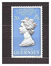 Guernsey 1978 Mnh New Silver Coronation 1v s23061