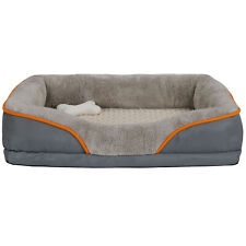 "Washable Durable Large Pet Sofa Bed 31"" Soft Memory Foam Dog Comfortable"