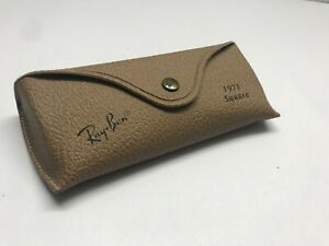 Case Ray Ban Sunglasses W Cloth Brown Unisex Ray Ban 1971 Square