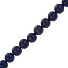 "10mm Natural Blue Lapis Lazuli Round Beads 7.5"" Strand (F33/2)"