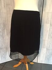 Autograph From Marks & Spencer Black Mesh Layered Skirt Sz 20