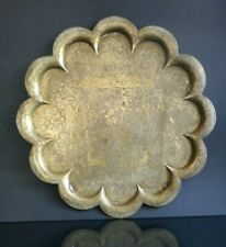 Ancien plateau perse Old persian ottoman oriental brass tray 51cm
