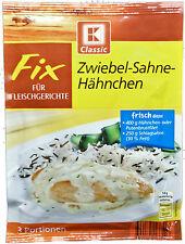 FIX for Zwiebel-Sahne-Hähnchen, Onion-Cream-Chicken, 3 servings, from Germany