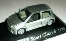 car 1/43 ALTAYA by IXO RENAULT CLIO II - 1 SPORT V6 1999 MET SILVER NEW BOX