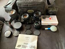 Pentax P30 & 4 lentilles Pentax-un 1.2 50 mm Sigma AF LL ZOOM 75-200 mm Makinon Tokina