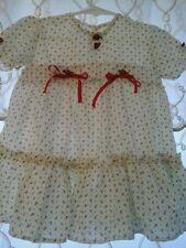 DARLING! Little Misses DANISH~Style Dress RUFFLES~ROSETTES~SATIN BOWS!  2T