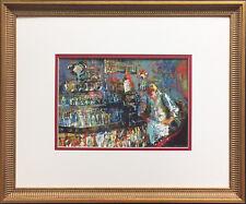 "LeRoy Neiman ""The Mixologist 1957"" Newly CUSTOM FRAMED Art Print - Bar Scene"
