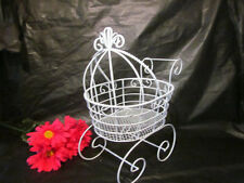 "Wire Baby Carriage (12"" Tall) for Baby Shower Decorations or Centerpiece"