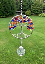 Crystal Chakra Tree of Life SunCatcher,Crystal Hanging Window Ornament