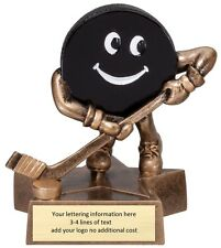 RESIN HOCKEY TROPHY KIDS OR LAST PLACE AWARD FREE LETTERING WITH FHL logo Fun!