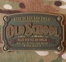 OLD SCHOOL WHISKEY LABEL ARMY USA MILITARY 3D PVC MULTICAM  MORALE HOOK PATCH