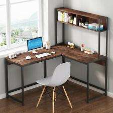 L Shaped Desk Corner Computer Gaming Laptop Table Workstation Save Space Home